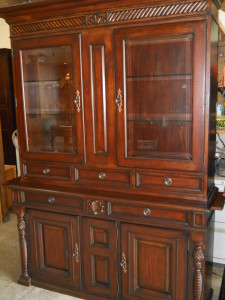 """Tommy Bahama """"Lexington"""" 2 Pc. China Cabinet 6 Drawers, 5 Cabinets, 2 Pull-out Side Trays, 2 Spot Lights H 85"""" x 57"""" x 19"""""""