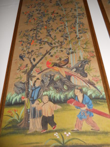 """Turn of the Century Framed Chinese Painting (2 Available) 75"""" x 32"""""""