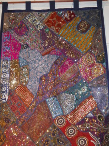 """Beaded Bejeweled Wall Hanging 61.25"""" x 38"""""""