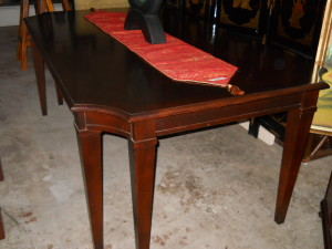"""Wood Dining Table Can Seat Them All! As Shown 78"""" x 46"""" W/1 Leaf 96"""" x 46"""" W/2 Leaves 114"""" x 46"""""""
