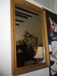 """Over 40 Years Old Heavy Framed Mirror 45"""" x 32.5"""""""