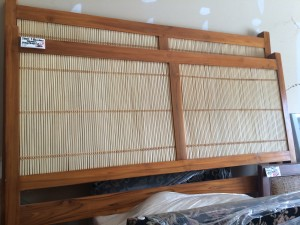 Teak & Bamboo Headboards Queen Size (2) Available
