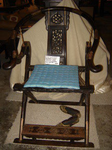 """40-50 Yr. Old Reproduction Classic Chinese Emperor's Folding Chair Made from Black Rosewood 43""""Hx20""""Wx25"""
